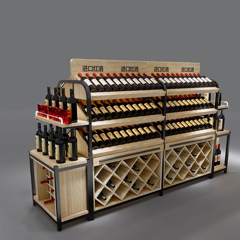 精品红酒超市展示货架