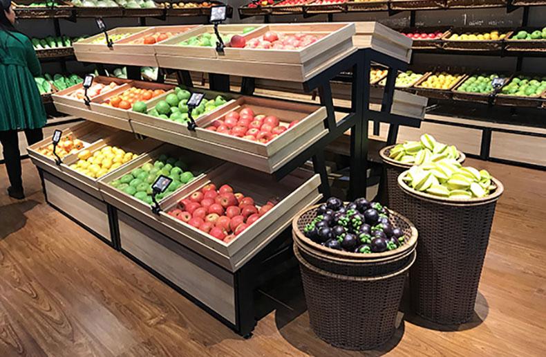 精品水果店铺展示货架